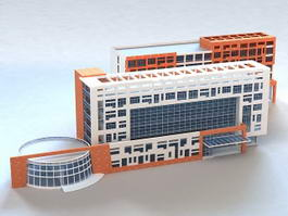 Modern Urban Hospital Buildings 3d model