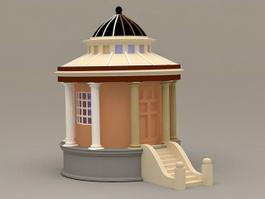 Roman Style Garden Gazebo 3d model