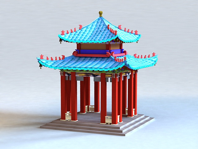 Qing Chinese Pavilion 3d model