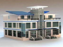 Modern Townhome 3d model