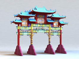 Ancient Chinese Archways 3d model