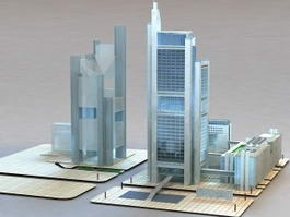 Commercial Complexes 3d model