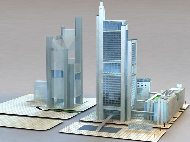 Commercial Complexes 3d model