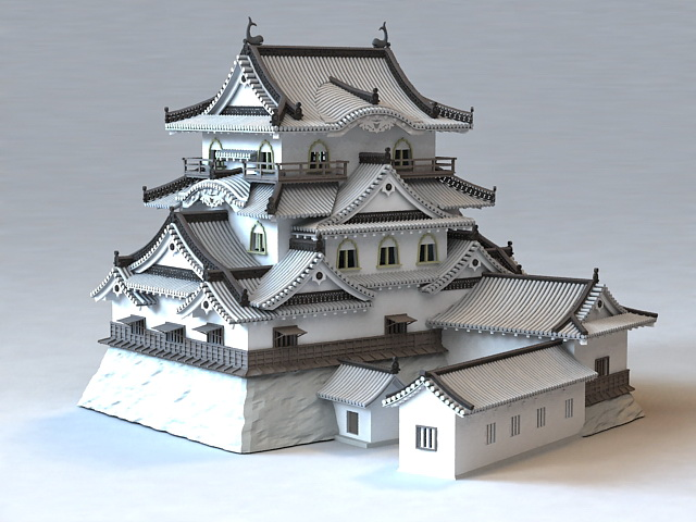 Ancient Japanese Temples 3d Model 3ds Max Files Free