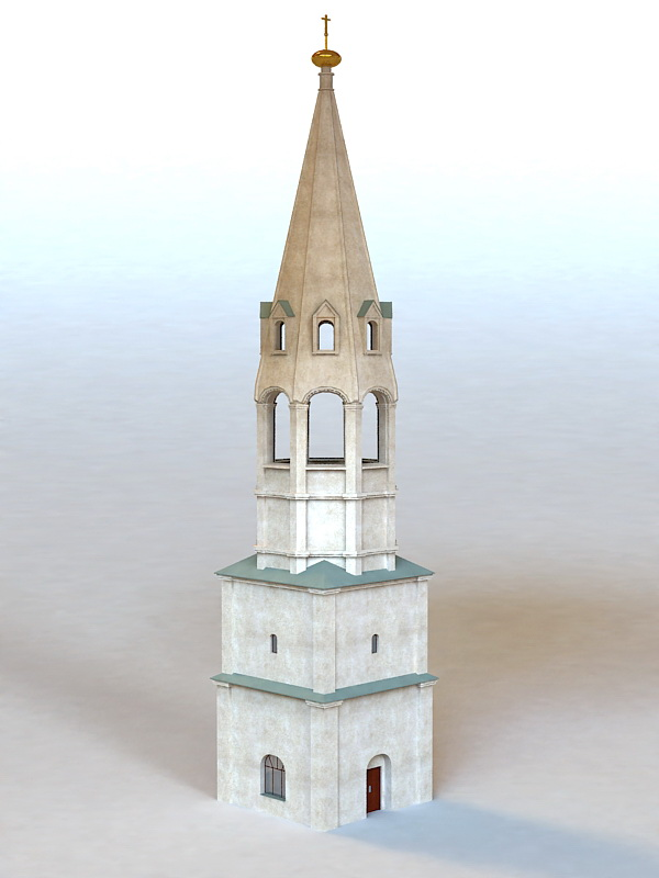 Medieval Bell Tower 3d Model 3ds Max Files Free Download