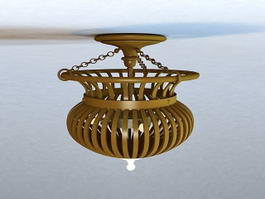 Rustic Flush Mount Ceiling Light Fixture 3d model