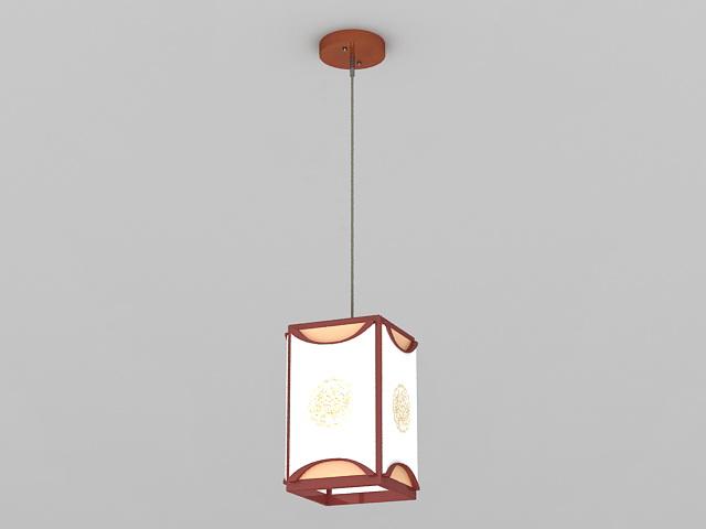 Chinese Pendant Light 3d model