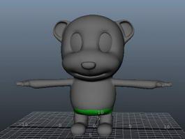 Cute Cartoon Baby Bear 3d model