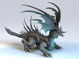 Dragon Monster Rigged & Animated 3d model