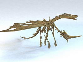 Skeletal Drake 3d model