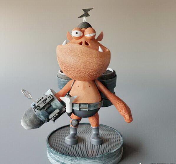 Cute Little Monster 3d model