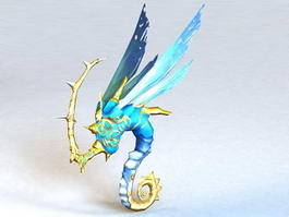 Faerie Dragon Animated & Rigged 3d model