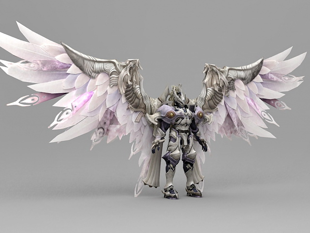 Fantasy Knight Armor Angel 3d Model