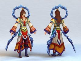 Male Human Mage 3d model