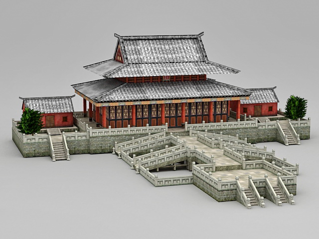 Hall Of Supreme Harmony 3d Model 3ds Max Files Free