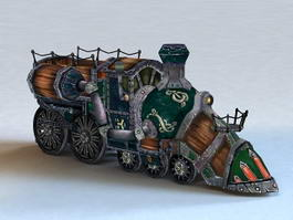 Steampunk Train 3d model