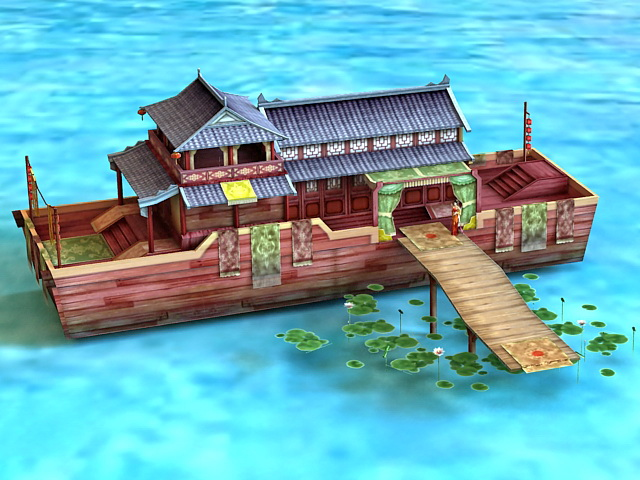 Ancient Chinese Pleasure Boat