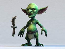 Goblin Warrior 3d model