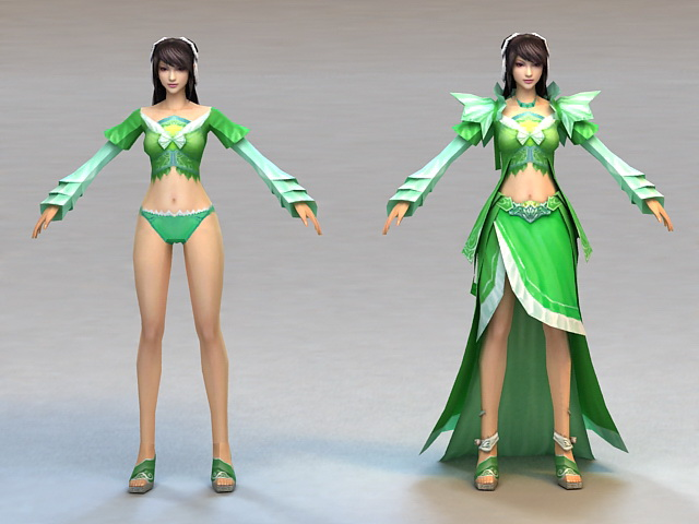 Ancient Chinese Beauty Woman 3d model