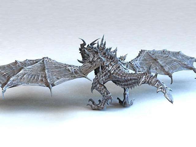 Metal Dragon Rigged 3d Model 3ds Max Files Free Download