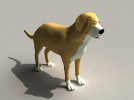 Smooth Collie Dog 3d model