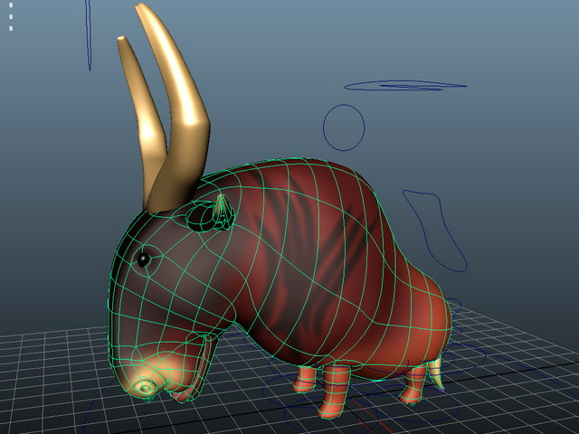 Cartoon Antelope Rigged 3d model