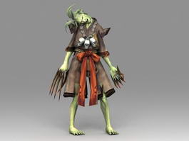 Zombie Character Animated & Rigged 3d model