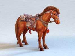 Ancient Arabian Horse 3d model