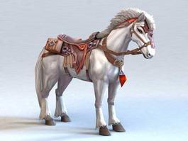 White War Horse 3d model
