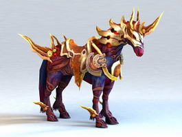 Purple War Horse 3d model