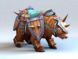 Armored Brown Bear 3d model