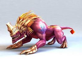 Armored Lion Beast 3d model