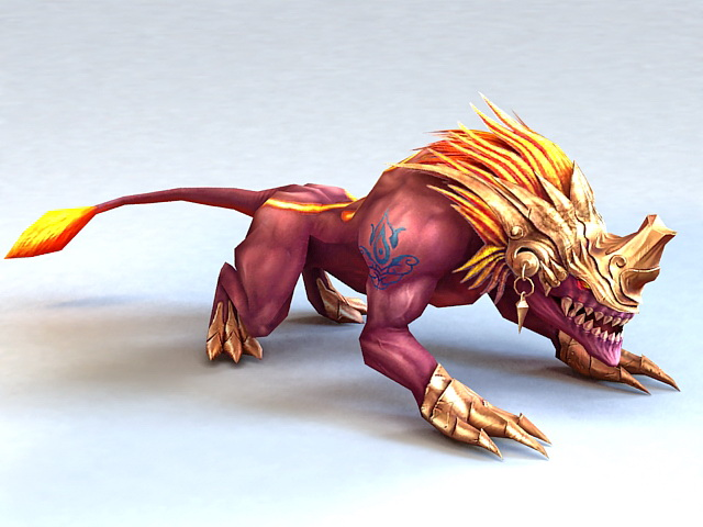 Armored Lion Beast 3d model