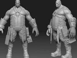 Ancient Barbarian Warrior 3d model