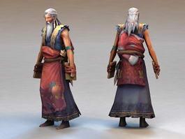 Medieval Old Man 3d model