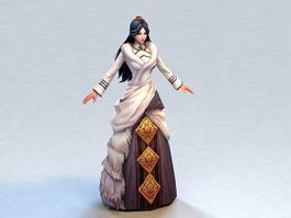 Ancient Chinese Clothing Woman 3d model