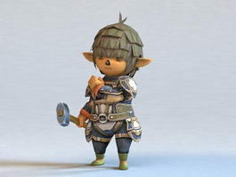 Chibi Male Elf 3d model