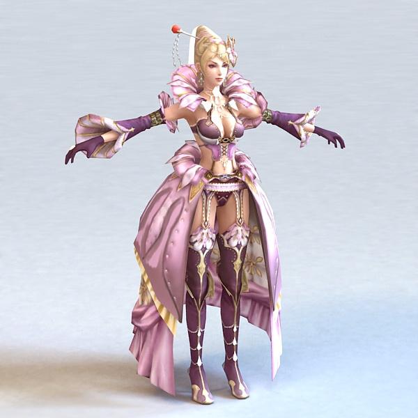 Medieval Queen 3d model