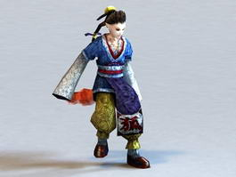 Anime Foxman 3d model