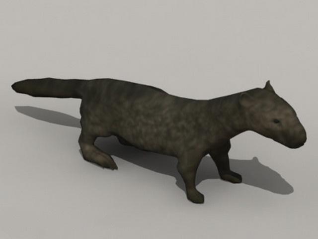 Black River Otter 3d model