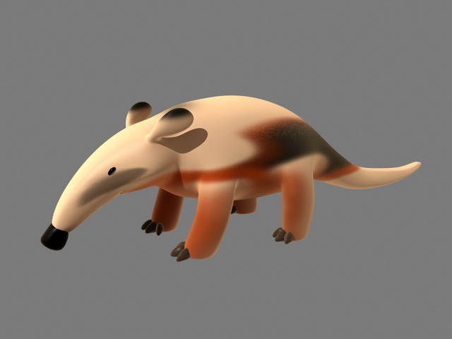 Rigged Anteater Cartoon 3d model