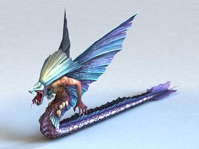 Quetzalcoatl Serpent 3d rendering