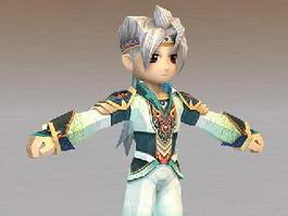 Anime Fighter Boy 3d model
