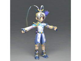 Anime Archer Boy 3d model