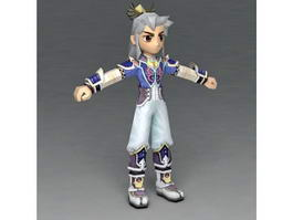 Anime Male Ninja 3d model