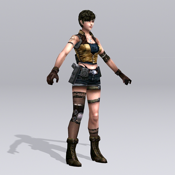 Female Soldier Art 3d Model 3ds Max Files Free Download
