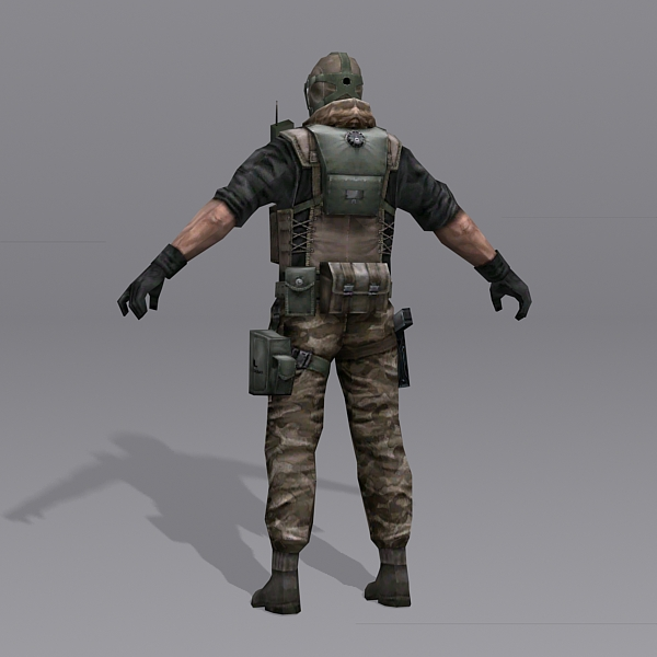 Combine Soldier 3d model 3ds Max files free download ...