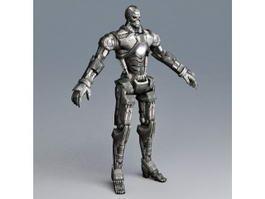 Combat Fighting Robot 3d model