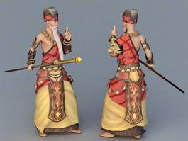 Anime Shaolin Monk 3d model