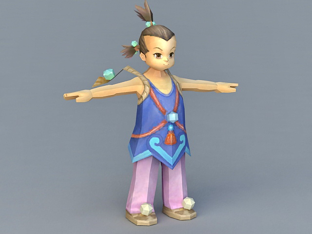 Ancient Chinese Peasant Boy